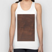 wood Tank Tops featuring Wood by Adoryanti