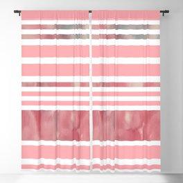 Pink Modern Stripes Blackout Curtain