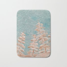 Golden trees on a cold day Bath Mat