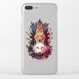 Heraldry Canidae Clear iPhone Case