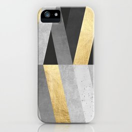 Gold and gray lines I iPhone Case