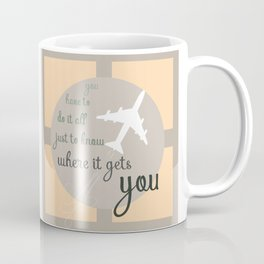 Travel quote- inspirational quote- wanderlust quote- airplane- plane- success Coffee Mug