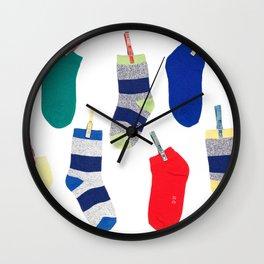 Colorful socks Wall Clock