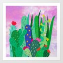 Painted cacti by mariabiro