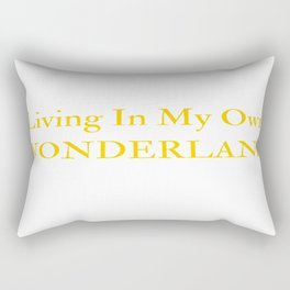 Living In My Own Wonderland in Yellow Rectangular Pillow