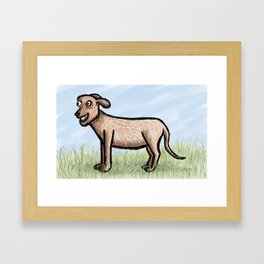 Wolfhound Framed Art Print