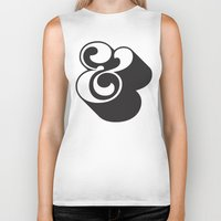 ampersand Biker Tanks featuring Ampersand by Mark Caneso