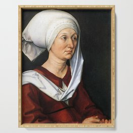 Portrait of Barbara by Albrecht Dürer Serving Tray