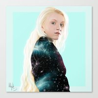 luna lovegood Canvas Prints featuring Luna Lovegood  by kelsey cooke art