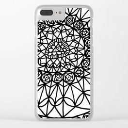 Doodle 12 Clear iPhone Case