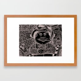 Tattoo tattooed in a Tattoo shop Framed Art Print