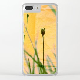 Polaroid photo yellow flower Clear iPhone Case