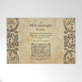 Shakespeare. A midsummer night's dream, 1600 Welcome Mat