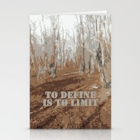 sayings Stationery Cards featuring Oscar Wilde #6 To define is to limit by bravo la fourmi