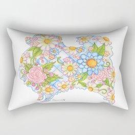 Pretty Blue Pomeranian Rectangular Pillow