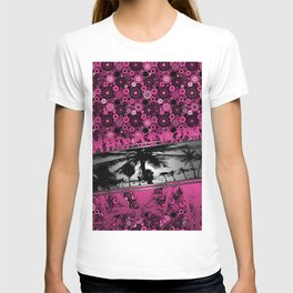 Tropical Beach Party in Pink T-shirt