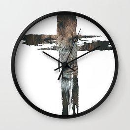 Lion Cross Christian Design Wall Clock