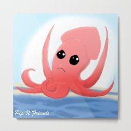 Surf Squid | Sid the Squid Metal Print