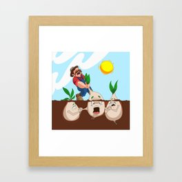 Turnip Terror Framed Art Print