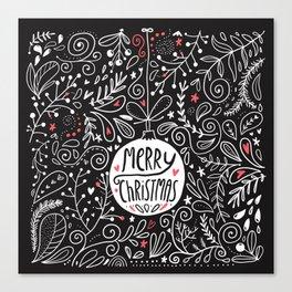 Merry Christmas doodles Canvas Print