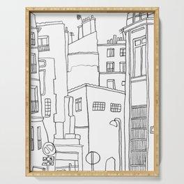 Paris Poetic Buildings Serving Tray