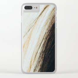 Gypsy Horse Mane rustic decor Clear iPhone Case