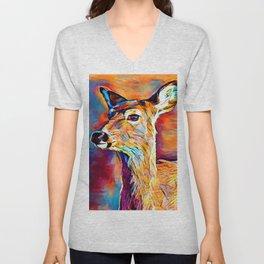 White-tailed Deer Unisex V-Neck
