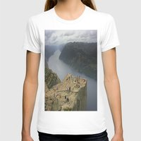 norway T-shirts featuring Preikestolen, Norway (2) by Kim Ramage