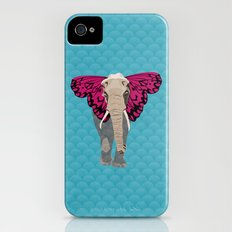 Elephant Butterfly iPhone (4, 4s) Slim Case