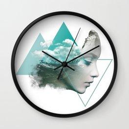 Digital Artwork Mountain Expression Wall Clock