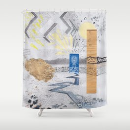 Shed light on the water crises Shower Curtain