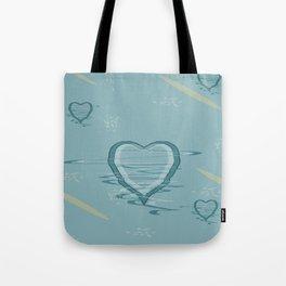 Pattern 2018 015 trembling hearts Tote Bag