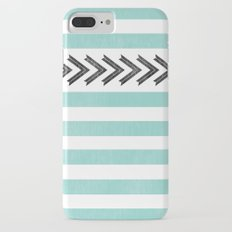 ARROW STRIPE {TEAL} Slim Case iPhone 7 Plus