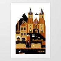 prague Art Prints featuring Prague by koivo