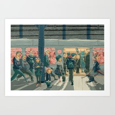 Hey Superhero! Art Print