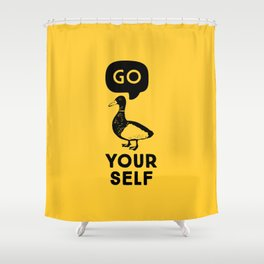 Go Duck Yourself Shower Curtain