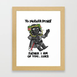 Drunk Darth Vader Framed Art Print