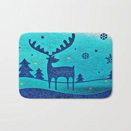Capri Winter Reindeer Bath Mat