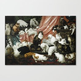 My Wife's Lovers by Carl Kahler, 1883 - Famous Cat Painting Canvas Print