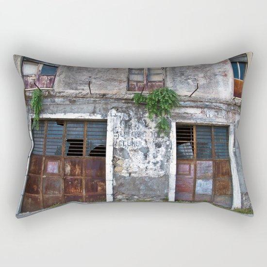 Old Sicilian facade of Taormina Rectangular Pillow