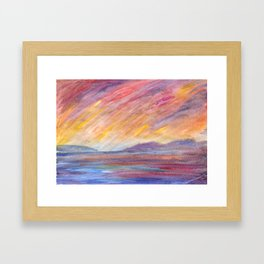 Sunny wind Framed Art Print