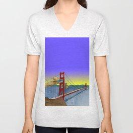 San-Fran Ferry Grinder  Unisex V-Neck