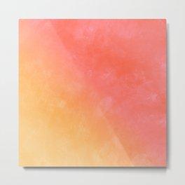 Peachy color cute grunge texture Metal Print
