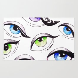 Bunch Of Eyes Rug