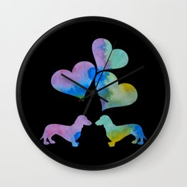 Art Dachshunds Wall Clock