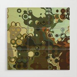 RETRO Mid Century Modern Abstract Pattern Geometric Art by Michel Keck Wood Wall Art