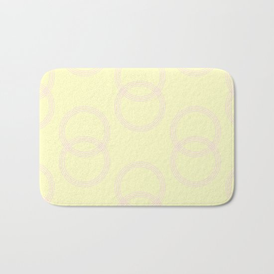 Simply Infinity Link Pink Flamingo on Pale Yellow Bath Mat
