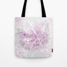 Modern abstract pink watercolor mandala marble pattern Tote Bag