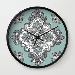 Aquamarine Medallion Wall Clock
