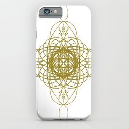 Gold with m on white iPhone Case